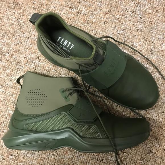 Army Green Puma Shoes By Fenty | Poshmark